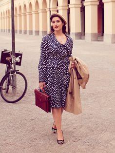 40s Style Shirtdress (Plus Size) 08/2013 Retro jurkje. Alleen de juiste stof nog vinden