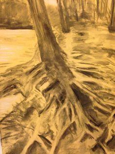 Charcoal landscape