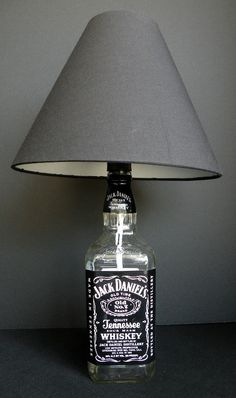JACK DANIELS Old No 7 Whiskey Recycled Bottle Lamp di becadesigns, $25.00