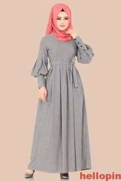 Long Dress Fashion, Abaya Fashion, Fashion Dresses, Abaya Mode, Mode Hijab, Hijab Stile, Moslem Fashion, Frack, Sleeves Designs For Dresses
