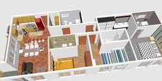 mountain house 3d interior...