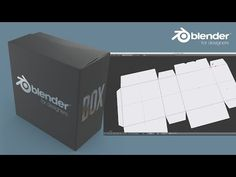 Blender for Packaging Design - Creating a Box with Flaps & Dielines - YouTube