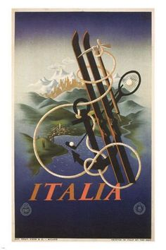 Italy by AM CASSANDRE vintage travel poster ITALY 1935 24X36 HOT collectors