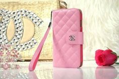 #Chanel iPhone 6 Plus Lamskin Leather Case Bag – Pink