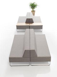 hotel management Multi-purpose units: Tetris by Sandler Seating Waiting Room Furniture, Lobby Furniture, Bench Furniture, Modular Furniture, Home Decor Furniture, Office Furniture, Waiting Room Design, Waiting Area, Public Seating
