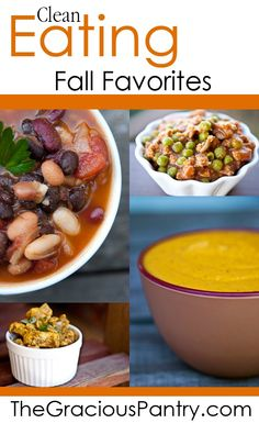 Clean Eating Fall Favorites! #cleaneating #eatclean #autumn