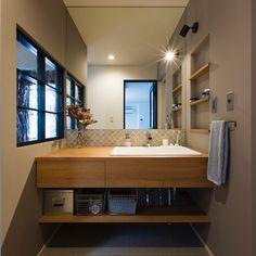 Bathroom Interior, Interior Design Living Room, Living Room Designs, Washroom Design, Mirror, House, Furniture, Home Decor, Arch