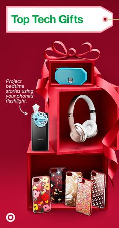 Hook them up with cool gadgets this holiday like portable speakers, phone cases & more.