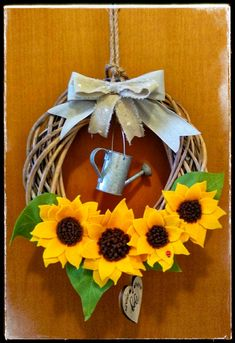 Sunflowers wreath outdoor Federica