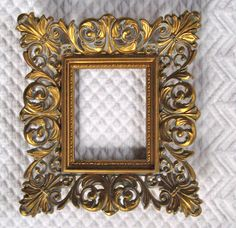 Vintage ORNATE GOLD Picture FRAME..........my home is filled with these frames