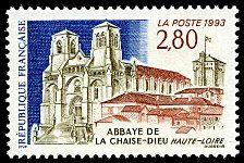 Abbaye de la Chaise-Dieu (Haute-Loire) - Timbre de 1993