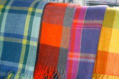 Finished blankets, handwoven by Josephine Andrews, Super-soft Merino Wool: £375 each