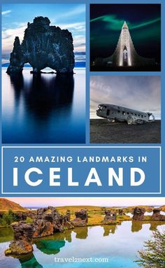 20 Famous Landmarks in Iceland. Iceland is often called the land of fire and ice. Emerging over the last few years as a popular travel destination, it is easy to see why so many people have listed this incredible country on their bucket lists. #iceland #europe #scandinavia #landmarks #travel