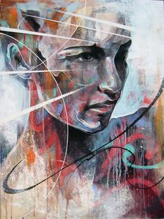 Portrait paintings by Danny O'Connor (aka DOC) - ego-alterego.com