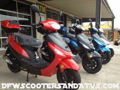 2013 TAOTAO 49cc 100+MPG Scooter The red one is mine!!!!!! ZOOM zoom I do!