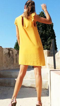 Vestidos amarillos cortos http://probandoropa.com/es/vestidos/vestidos-amarillos-cortos