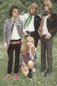 1968 Left: Nigel Weymouth (designer behind Granny Takes a Trip), Middle: Rufus Dawson, Right: Jess Down and Amanda Lear.