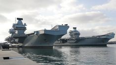 Royal Navy aircraft carriers dock together in Portsmouth - BBC News Royal Navy Aircraft Carriers, Navy Carriers, Crowd Images, Hms Queen Elizabeth, Carrier Strike Group, Navy Ships, Submarines, Portsmouth, Battleship
