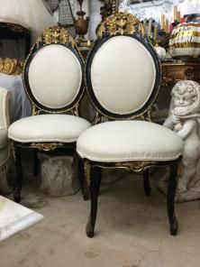 Antique Grand French Dining Chairs, Early 1900s