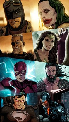 Dc Comics Superheroes, Arte Dc Comics, Dc Comics Characters, Fictional Characters, Zack Snyder Justice League, Justice League Comics, Batman Comic Art, Joker Art, Mundo Superman
