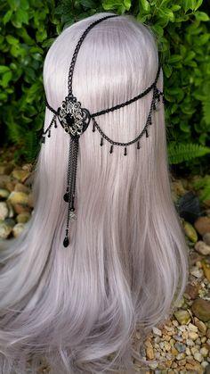 hairstyle for Azure Dragon Figure (pre-timeskip) Headpiece Jewelry, Head Jewelry, Cute Jewelry, Fantasy Jewelry, Gothic Jewelry, Fashion Accessories, Fashion Jewelry, Hair Accessories, Circlet