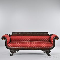 Classical Carved Mahogany Sofa | Sale Number 2824T, Lot Number 1002 | Skinner Auctioneers