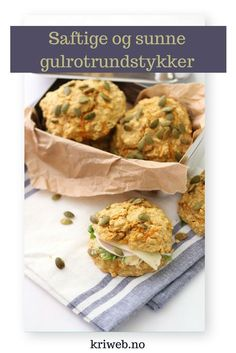 Gulrotrundstykker i en fei Healthy Eating, Healthy Food, Bacon, Food And Drink, Gluten, Favorite Recipes, Lunch, Healthy Recipes, Ethnic Recipes