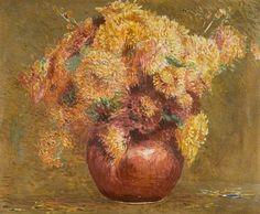 Lowe, Arthur, (1865-1940), Chrysanthemums, Oil