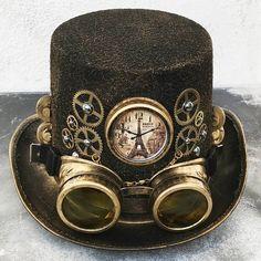 Steampunk mode STEAMPUNK cylinder silver / pewter steampunk hat with tin Steampunk Cosplay, Viktorianischer Steampunk, Design Steampunk, Steampunk Crafts, Steampunk Outfits, Steampunk Wedding, Steampunk Clothing, Steampunk Necklace, Steampunk Fashion Men