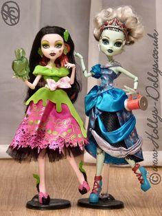 Scary Dolls   High Scary Tales Draculaura Snow Bite & Frankie Threadarella dolls ...