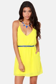 cute yellow dress! #lulus Get 7% Cash Back http://www.studentrate.com/itp/get-itp-student-deals/lulu-s-Student-Discount--/0