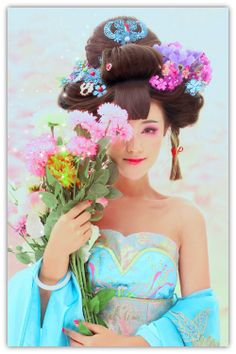 Chinese dress and hair accessories