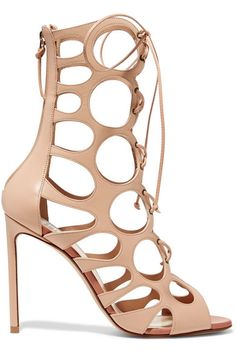 07168b30531903 Francesco Russo - Cutout leather sandals