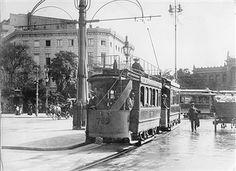 Potsdamer Platz.. Verkehr mit Straßenbahnen.. old Hotel Fürstenhof.. Potsdamer Bahnhof.. 1905
