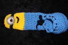 crochet willy warmer minion themed- I would never make this nor would I give one to any man unless I really, really hated him!!!