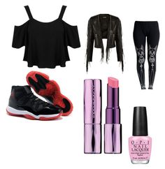 """""""Wolfie's Human transformantion clothing"""" by thedesignergamer ❤ liked on Polyvore featuring Miss Selfridge, Balmain, Killstar, NIKE, Urban Decay and OPI"""