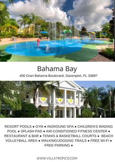 Bahama bay is a Caribbean themed resort in Orlando, Florida | Villas for rent near Disney World
