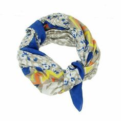 Cobalt Animal Print Scarf | Fair Trade Scarves