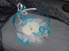 décorrations fait avec fil Aluminium pour table de mariage   blanc - fleurs artificiellesarceau en aluminium turquoise de 18cm de ...