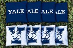 Cornhole All Weather Bag Set - Yale Bulldogs