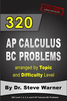 320 AP Calculus BC Problems. Available on Amazon: http://www.amazon.com/Calculus-Problems-arranged-Topic-Difficulty/dp/1507762429/ref=sr_1_2?ie=UTF8&tag=drstssamaprpa-20&qid=1422791580&sr=8-2&keywords=ap+calculus
