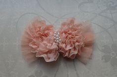 Blush Pink Shabby Chic Hair Bow by ChinnyLuLu4Babies on Etsy, $8.99 #chinnylulu   chinnylulu.com
