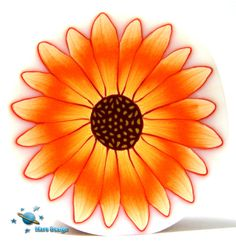 Orange sunflower cane | by Marcia - Mars design