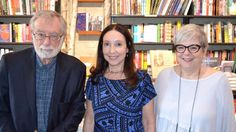 Author Sharon Hart-Green (center) with New Jewish Press co-publishers Malcolm Lester and Andrea Fochs Knight (Courtesy New Jewish Press)