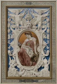 ♛Painted grisaille panel by Stefano - Salon 2012 Mural Art, Wall Murals, Art Decor, Decoration, Faux Painting, Classic Architecture, Classic Paintings, Panel Art, Objet D'art