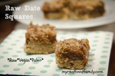 These raw date squares are a simple and healthy dessert as well as paleo and vegan. Naturally sweetened with dates, it's a tasty sweet treat.