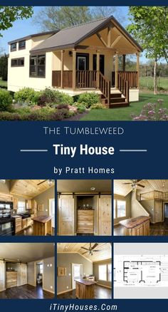 It's amazing how much space can fit inside a small footprint with smart design. One tiny house company that is breaking new ground with its tiny house layouts is Pratt Homes. Let's take a look at their Tumbleweed model! Tyni House, Tiny House Cabin, Small House Plans, House Floor Plans, Small House Diy, Tiny Cabin Plans, Tiny Houses For Rent, Modern Tiny House, Little Houses