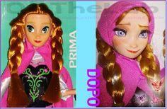 Repaint Fake Anna Frozen  #Anna #frozen #doll