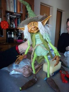 Fantasy Witch, Fantasy Wizard, Fantasy Castle, Fantasy Monster, Elves And Fairies, Clay Fairies, Polymer Clay Sculptures, Polymer Clay Dolls, Troll Dolls