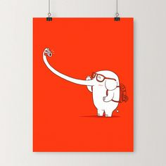 Lonely traveller - Art print | I Love Doodle - The visual art of Lim Heng Swee